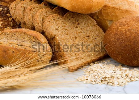 Various breads & grains