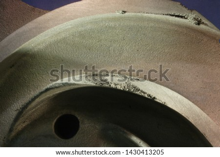 """Various casting defects in a ~13"""" diameter ASTM A990 Grade CN3MCu (Modified) cast impeller"""