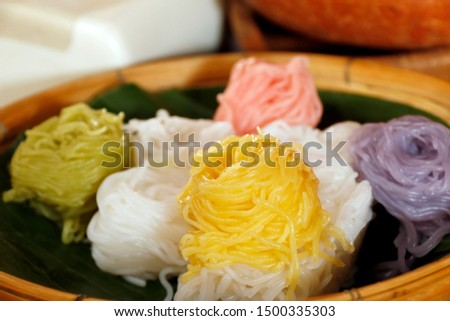 Various Color - Various color for Thai noodle now is popular for consumers.