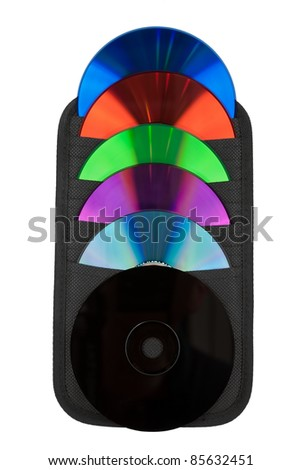 various colors of CD / DVD