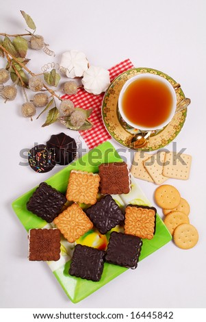 Various cookies for a breakfast to tea