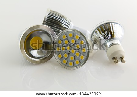 various cooled warm white LED lamps with GU10 socket