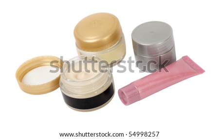 Various Cosmetics creams Isolated on white background