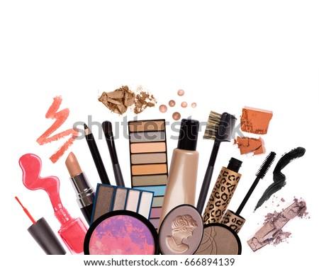 Various cosmetics isolated on white background  Zdjęcia stock ©