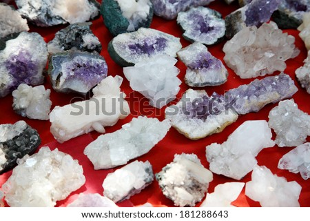 various crystals and gemstones
