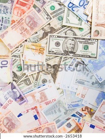 Various currencies