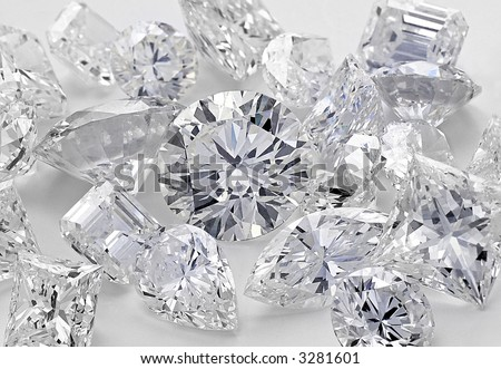 Various cut Cluster of Diamonds