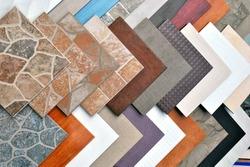 Various decorative tiles samples.