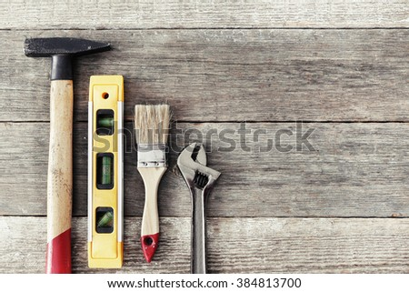 Various DIY tools on the table #384813700