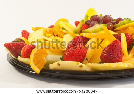 Various fruits on a plate