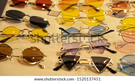 Various glasses, many colors and many different things