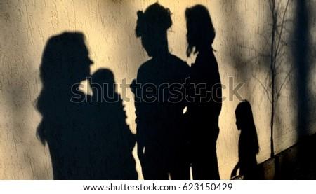 various human shadows talking #623150429