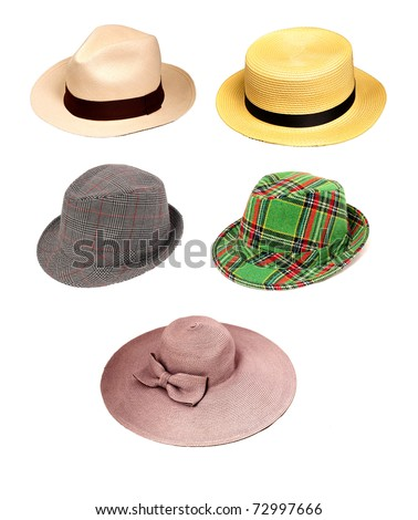Various kind of hats