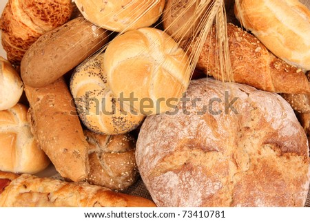 Various kinds of pastry