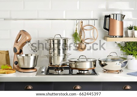 various kitchen utensils Stockfoto ©