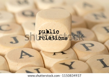 Various letters and the word Public Relations