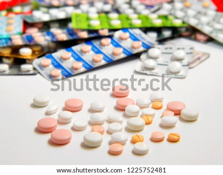 Various medications, medicine and tablets, background #1225752481