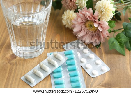 Various medications, medicine and tablets, background #1225752490