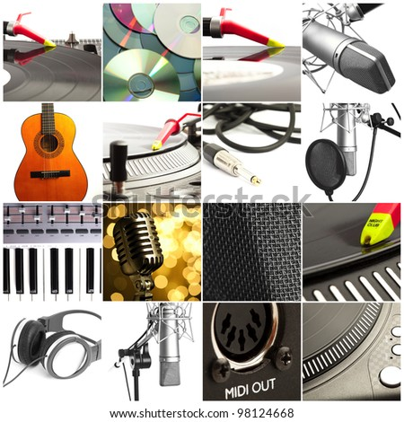 various music objects composition