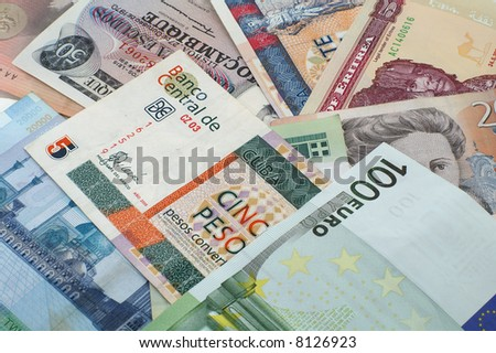 various of money
