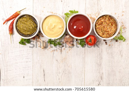 various of sauces #705615580