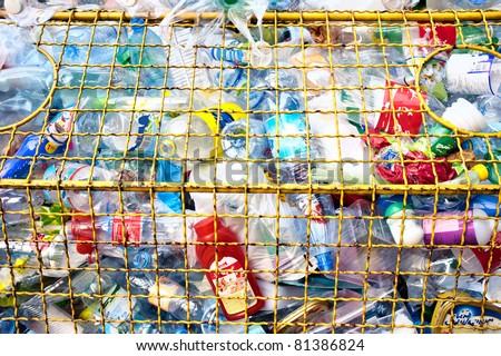 Various plastic garbage