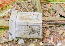 various ruins of an old castle, fragments of ruins from an old building, ruined fragments of the castle interior, Veckarku Castle, Valka district, Karki, Latvia