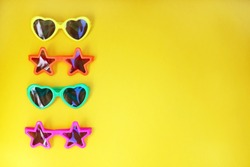 Various shapes of Sunglasses