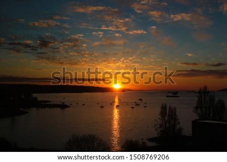 Various Sunsets at English Bay