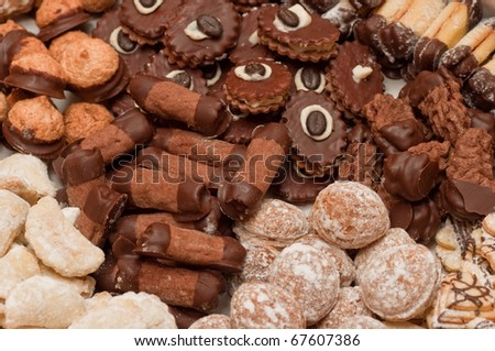 various traditional cookies and sweets - stock photo
