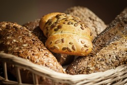 Various types of bread in a basket different types of bread bread of different varieties