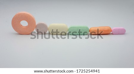various types of drugs from health dispensaries, covid-19 drug concept  Zdjęcia stock ©
