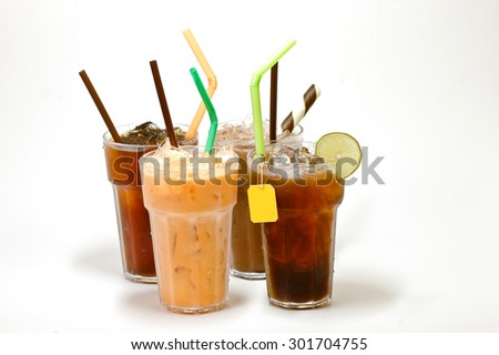various types of iced tea