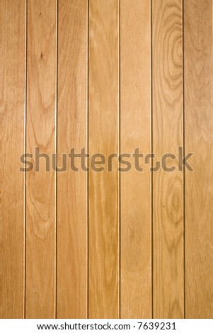 Varnished oak, in portrait format with vertical joins