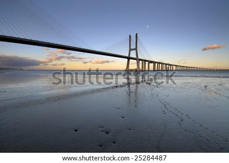 Vasco da Gama bridge in Lisbon, Portugal #25284487