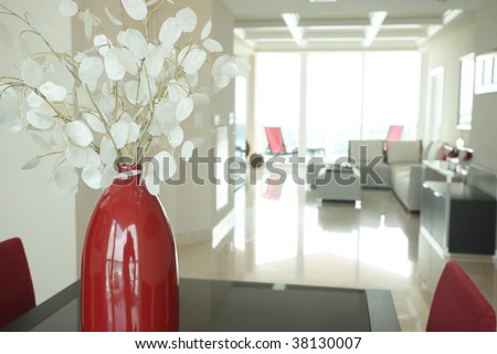 Vase in a modern condominium
