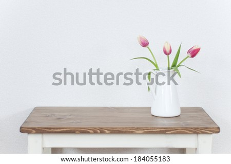 Vase of natural tulips #184055183