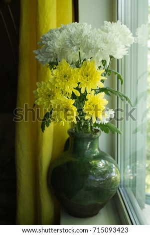 Vase with flowers  #715093423