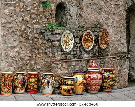 Vases in Ravello, Italy