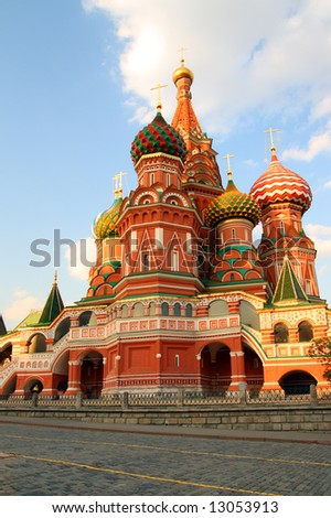 Vasiliy Blazhenniy church on red square in Moscow