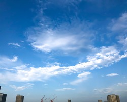 Vast blue sky and clouds, cityview under this nature