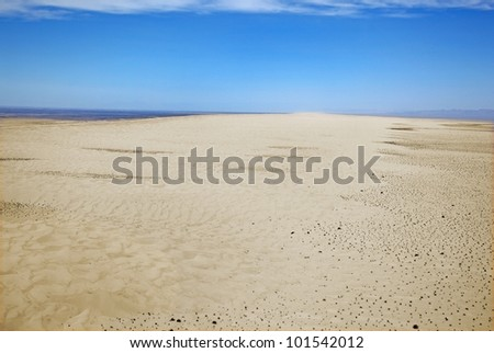 Vast desert landscape of the Imperial Sand Dunes