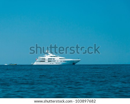 Vast Seascape Yacht Vacation - stock photo