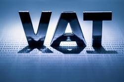 VAT alphabet letter on paper background