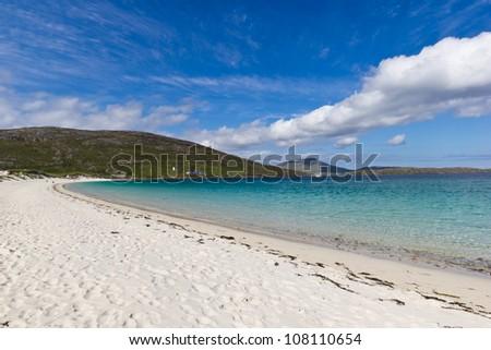 Vatersay beach - stock photo