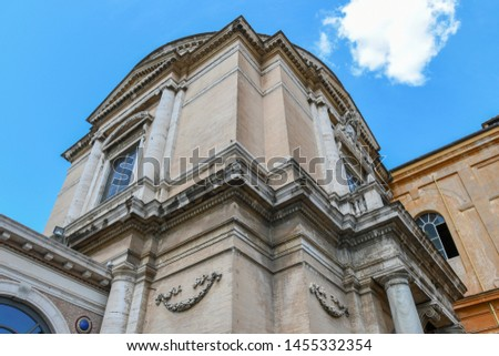 Vatican museum building in Rome, Italy. This is one of the oldest museums in the world.
