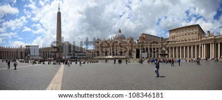Vatican panorama - stock photo