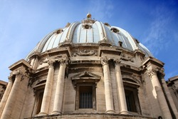 Vatican - Rome, Italy. Saint Peter's Basilica dome and cupola.