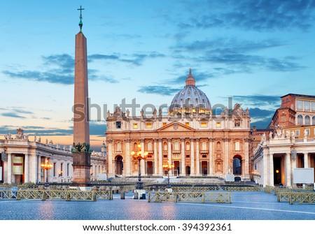 Vatican, Rome, St. Peter's Basilica - nobody