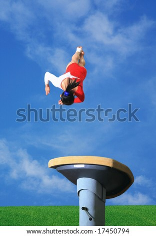 Vaulting horse - stock photo